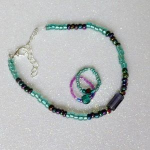 Jewelry - Aquamarine anklets and Toe rings
